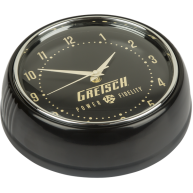Gretsch Guitars Power and Fidelity Logo Black Retro Wall Clock