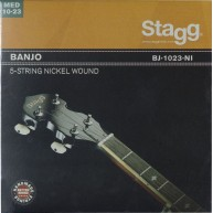 Stagg Medium Nickel Wound Strings for 5-String Banjo 10-12-16-23-10 #BJ-102