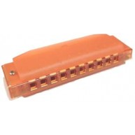 Hohner - Clearly Colorful Harmonica - 10 Hole - Key of C - Orange