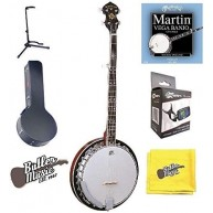 Oscar Schmidt OB5E Acoustic Electric 5-String Banjo, Case, Tuner, Stand and