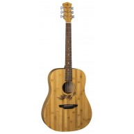 Luna WL Woodland Bamboo Dreadnought Size Satin Finish Acoustic Guitar