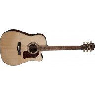 Washburn HD30SCE Solid Top, Quilt Ash Back and Sides, Acoustic Electric Gui