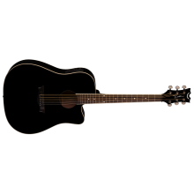 Dean AX DCE CBK Dreadnought, Classic Black Acoustic Electric Cutaway Guitar