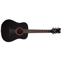 Dean Flight Satin Black 3/4 Size Travel Acoustic Guitar w/Bag # FLY BKS
