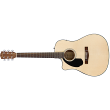 Fender CD-60SCE LH Left Handed Solid Top Acoustic Electric Dreadnought Guitar