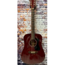 Guild Model D-125 Cherry Red All Solid Mahogany Acoustic Guitar w/Case Blem #AG1