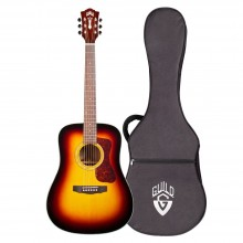 Guild D-140SB All Solid Antique Sunburst Acoustic Dreadnought Guitar with Case