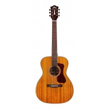Guild OM-120 Orchestra Size All Solid Mahogany Acoustic Guitar with Hard Case