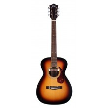 Guild Troubador M240E VSB Solid Top Acoustic Electric Guitar with Deluxe Bag