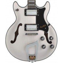 Hagstrom Model ALV-SFT Alvar Swedish Frost Finish Semi-Hollow Electric Guitar