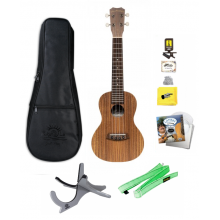 Islander AC-4 Acacia Concert Size Ukulele with Bag, Tuner, Strings, and More