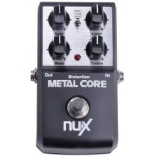 NUX Metal Core Deluxe Distortion Effect Pedal built-in Noise Gate 2-Band EQ
