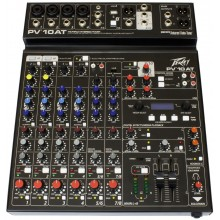 Peavey PV-10 AT Compact 10 Channel Mixing Board Mixer with Bluetooth #03612610