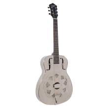 Recording King Model RM-998-R Metal Body Style O Resonator Guitar Nickel-Plated