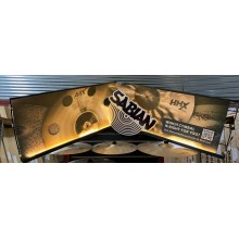 Sabian Cymbal lighted hanging Retail store sign to hang on slatwall walls