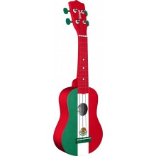 Stagg Model US-MEX-FLAG Mexican Flag Soprano Size Ukulele with Gig Bag - Mexico