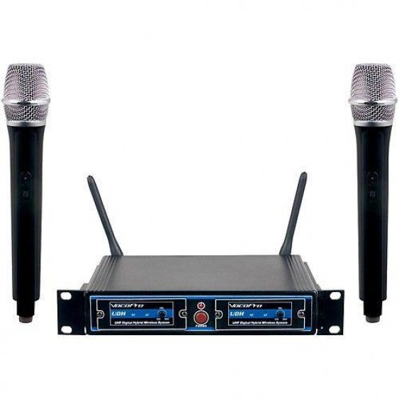 VocoPro UDH-Dual-H Hybrid Wireless Microphone system  Used