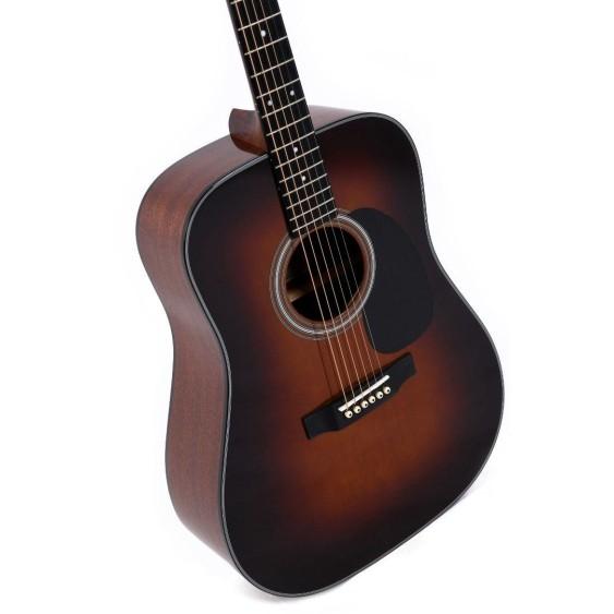 AMI Guitars DM-1ST-SB Sunburst Solid Top Acoustic Dreadnought Size Guitar