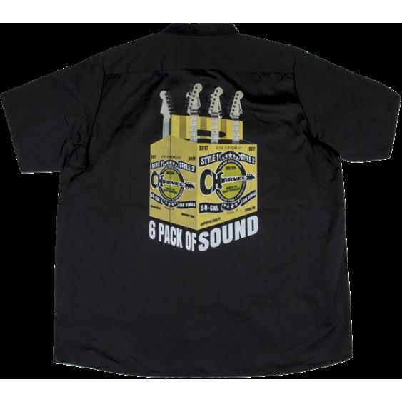 Charvel 6 Pack Of Sound Logo Work Shirt Black Large - #0996797704