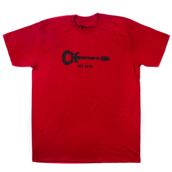 Charvel Guitar Logo Tee T-Shirt in Red -  Large - #0996827704