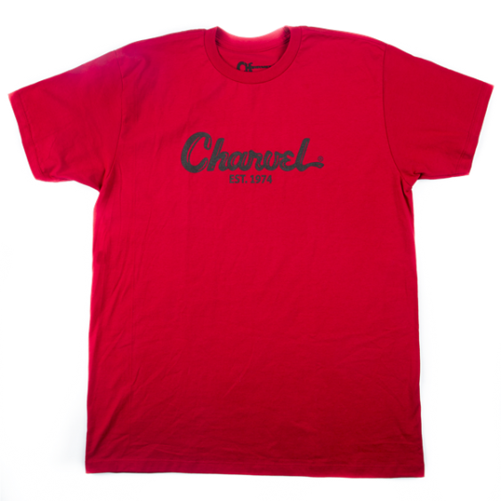 Charvel Guitars Toothpaste Logo Tee T-Shirt in Red -  Extra Large - #0998727804
