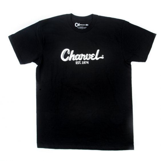 Charvel Guitars Toothpaste Logo Tee T-Shirt in Black -  Large - #0998727706