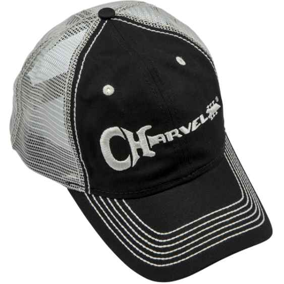 Charvel Guitars Trucker hat in Black with White Embroidered Logo - #0998785000