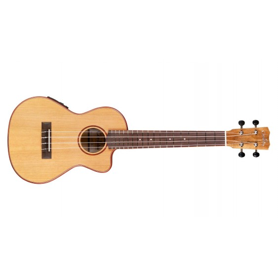 Cordoba Spalted Maple Electric Acoustic Tenor Size Ukulele Model 24T - Blem #AJ7