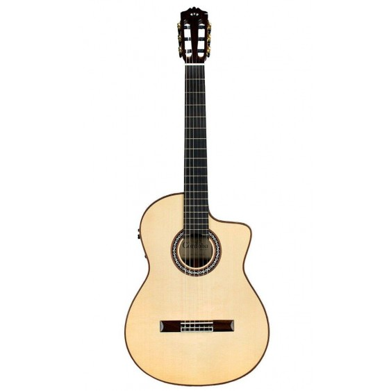 Cordoba GK Pro Negra Acoustic-Electric Flamenco Guitar with Case - Blem #N421