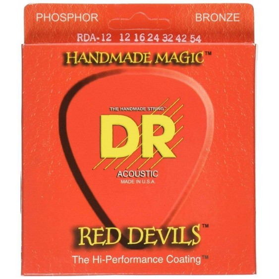 DR Strings Red Devils - Extra-Life Red Coated Electric Guitar Strings Size 12-54