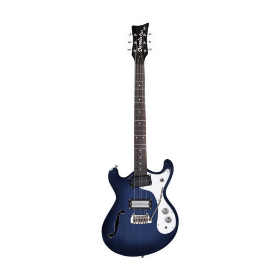 Danelectro The '66 Reversed Cutaway Electric Guitar 66T-TBLU Trans Blue  - Demo