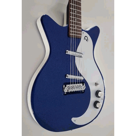 Danelectro 59 Modified NOS+ Vintage Style Electric Guitar Blue Metal Flake -Demo