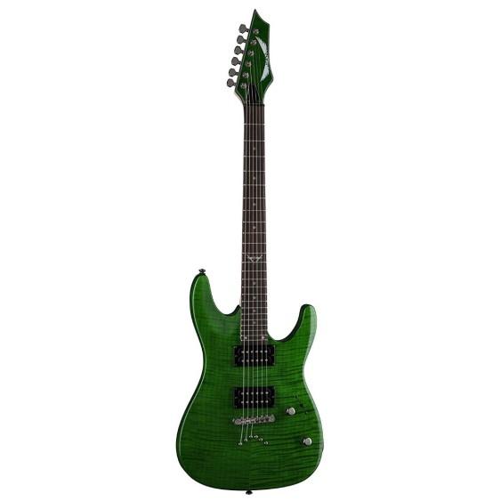 Dean C350 TGR Transparent Green Custom 350 Double Cutaway Electric Guitar