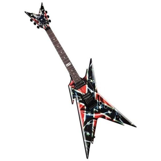 Dean Dimebag Razarback Rebel Flag Southern Electric Guitar with Hardshell Case
