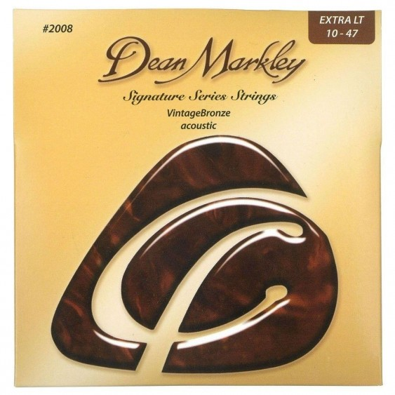 Dean Markley Signature Vintage Bronze Acoustic Strings, 10-47, 2008, Extra Light