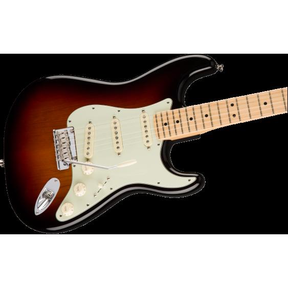 American Professional Stratocaster, 3 Color Sunburst, Maple Neck w/Elite Case