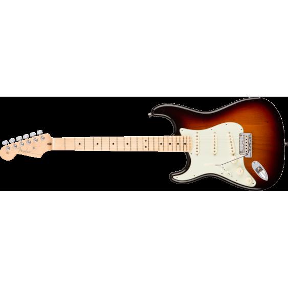 American Pro Series Left Handed Stratocaster, Sunburst, Maple Neck w/Elite Case