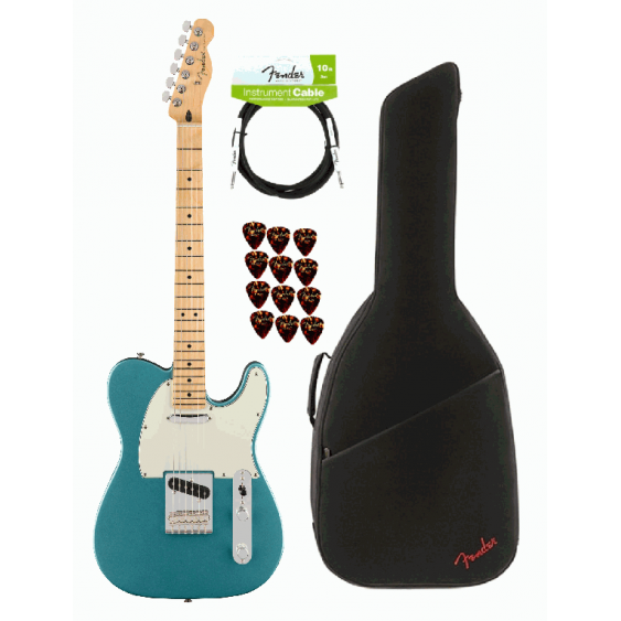Fender Player Telecaster Electric Guitar Tidepool Finish MIM - Player Bundle