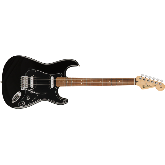 Fender Standard Dual Humbucker Stratocaster Electric Guitar in Black - MIM