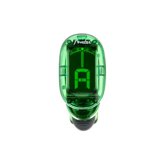 Fender California Series Clip-On Chromatic Instrument Tuner, Alien Green