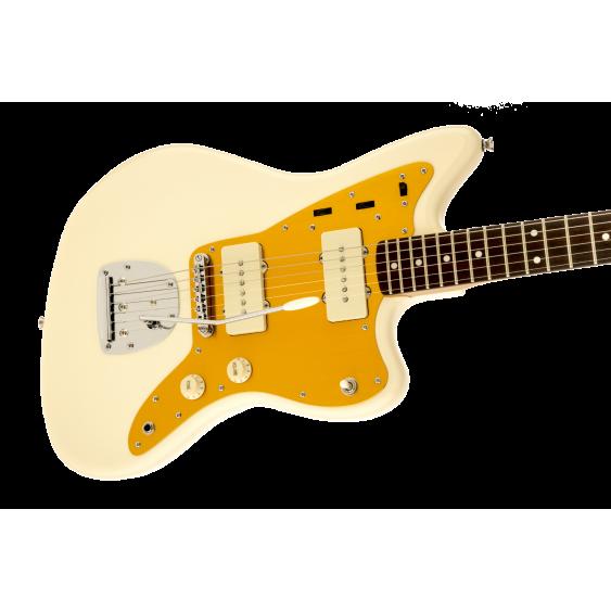 Fender Squier J Mascis Jazzmaster Electric Guitar with Tremolo in Vintage White