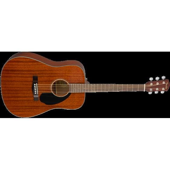Fender Model CD-60S MAH Solid Top Mahogany Dreadnought Acoustic Guitar
