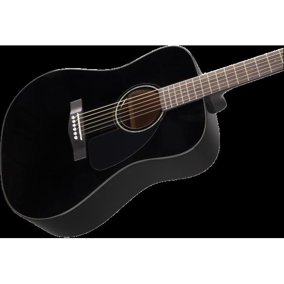 Fender CD-60 BK Black Spruce Top Acoustic Dreadnought Guitar w/Hardshell Case
