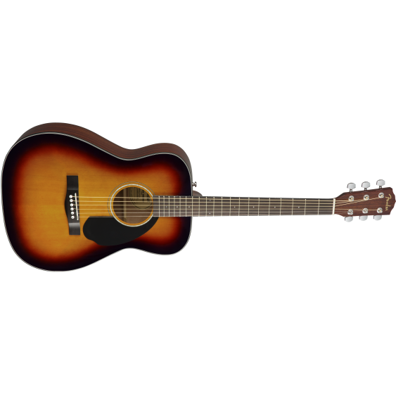 Fender Model CC-60S Concert Size Solid Spruce Top Acoustic Guitar in Sunburst