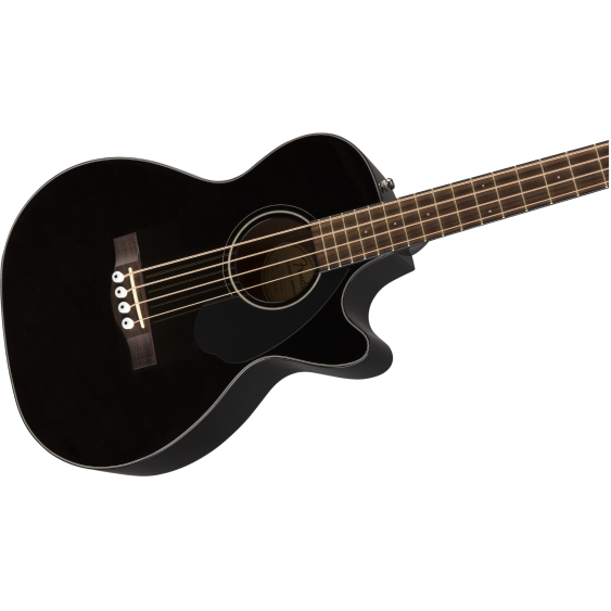 Fender CB-60SCE Black Solid Spruce Top Acoustic Electric Bass Guitar 0970183006