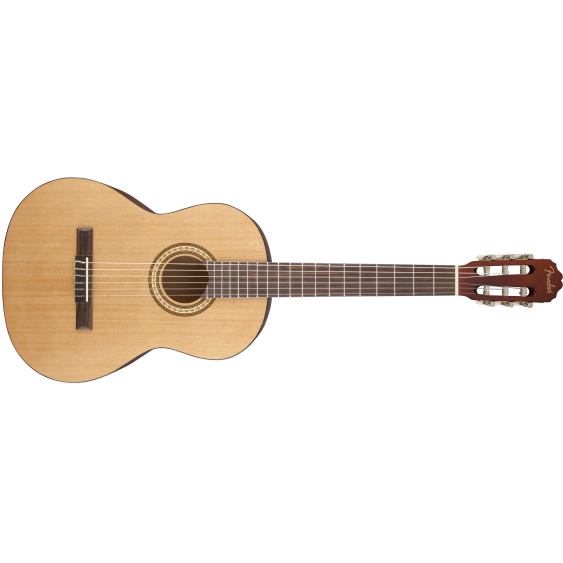 Fender Model FC-1 Classical Nylon String Acoustic Guitar, Natural Gloss FInish