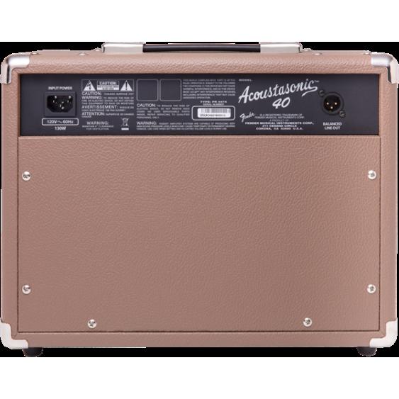 Fender Acoustasonic 40 Watt Acoustic Guitar Amplifier, Cable and Picks Bundle