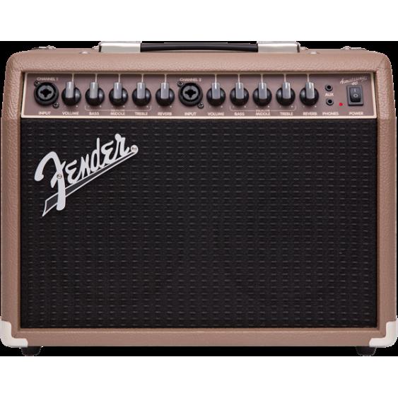 Fender Acoustasonic 40 - 40 Watt Combo Acoustic Guitar Amplifier With Dual Input