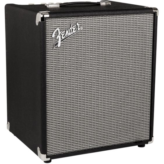 Fender Rumble 100 Watt Bass Guitar Combo Amplifier (V3), Black/Silver - DEMO