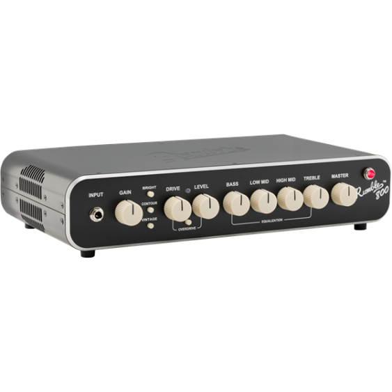Fender Rumble 800 Watt Mini Bass Amplifier Head with Footswitch and Carrying Bag